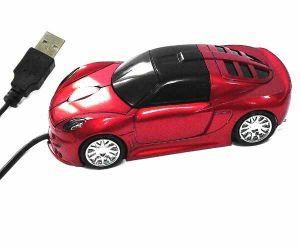 Мышь машина красная