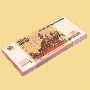 Пачка денег 100 руб