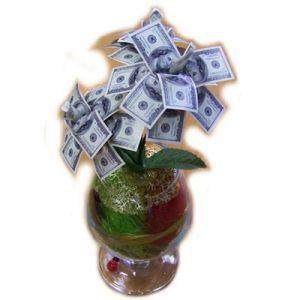 Бокал Денежное дерево 100$