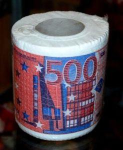 Туалетная бумага - 500 евро